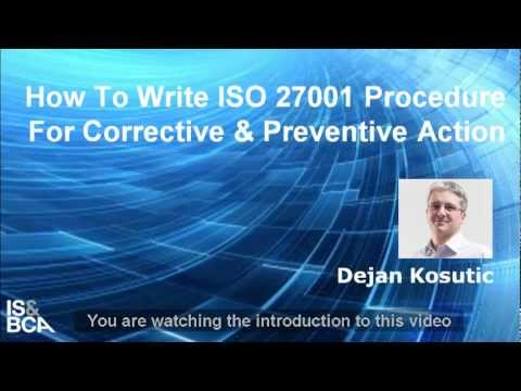 Introduction | How to Write ISO 27001 Procedure for Corrective and Preventive Action