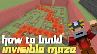 getlinkyoutube.com-Minecraft Xbox 360/One: How to Build - Maze w/ Invisible Walls!