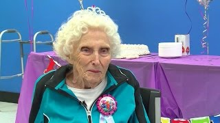 Walmart employees throw surprise birthday party for 104-year-old woman