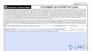 VA Form 21 4138 - YouTube