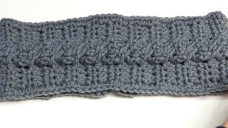 getlinkyoutube.com-How to Crochet a Headband using the Cable Crochet Stitch