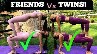EXTREME YOGA CHALLENGE Twins vs Friends in BALI! width=