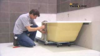 getlinkyoutube.com-Montage / Installation Artweger TWINLINE 2 Duschbadewanne / shower bath