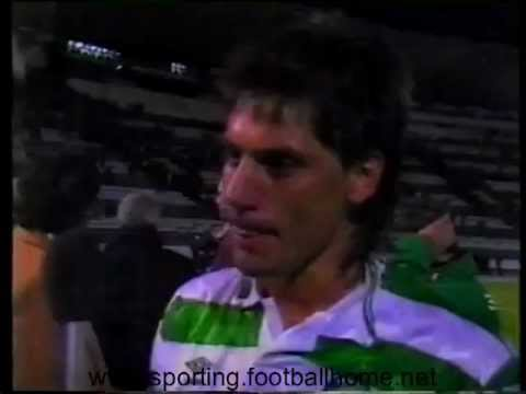 Reportagem no Final do Sporting - 2 Vitesse - 0 de 1990/1991