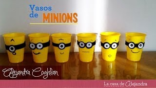 getlinkyoutube.com-Vasos de Minions -  DIY Minions party cups