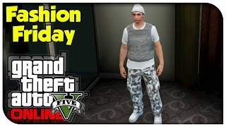 getlinkyoutube.com-GTA 5 Online - FASHION FRIDAY! (The Juggernaut, Lara Croft & Snow Military) [GTA V Cool Outifts]