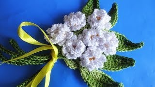 getlinkyoutube.com-Маленький букет  Small a bouquet Crochet