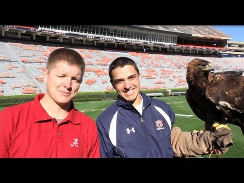 Alabama fan visits Auburn Eagle Practice - Smarter Every Day 32