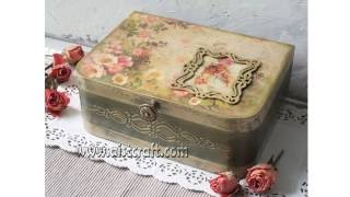 getlinkyoutube.com-Decoupage tutorial - DIY. How to use french gilding wax. Vintage style. Shabby chic