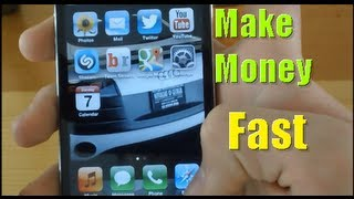 getlinkyoutube.com-How to make money for dumb people, using Iphone, fast and easy(make money for kid?online?)