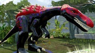getlinkyoutube.com-LEGO Jurassic World - Baryonyx Unlock Location + Gameplay (Skeleton & Custom Dinosaur)