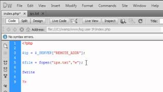 PHP: Log a user's IP