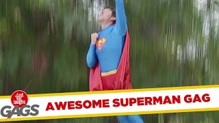 getlinkyoutube.com-Flying Superman Prank!