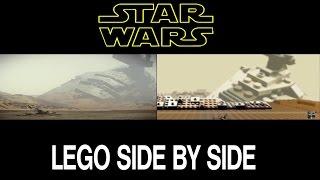 getlinkyoutube.com-Lego Star Wars 7 Trailer 2 Side by Side