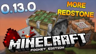 MORE REDSTONE MOD for MCPE 0.13.0! - REPEATERS, COMMAND BLOCKS, DISPENSERS (POCKET EDITION)