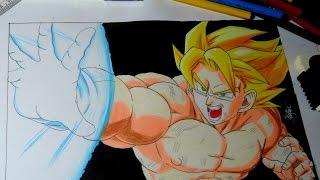 getlinkyoutube.com-Drawing Goku kamehameha !