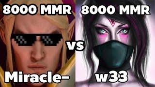 getlinkyoutube.com-Miracle- 8000MMR Plays Invoker vs w33 8000MMR Plays Templar Assassin - Ranked Match Dota 2 Gameplay
