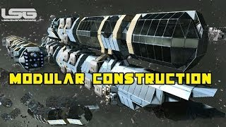 getlinkyoutube.com-Space Engineers - Modular Construction Ship, 100's Of Configurations