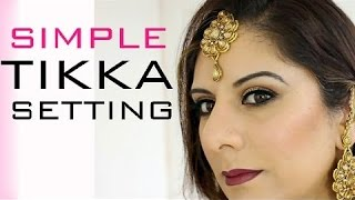 getlinkyoutube.com-MUA TIP: Simple Easy Tikka Setting for short loose hair