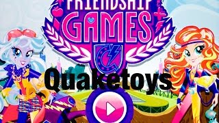 getlinkyoutube.com-New Update My Little Pony Equestria Girls MLP Friendship Games App Scanning Motocross Bike Sunset