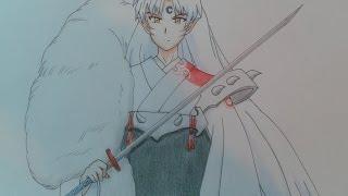 getlinkyoutube.com-Drawing sesshomaru/dibujando a sesshomaru (inuyasha)