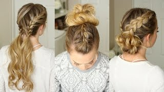 getlinkyoutube.com-3 Easy Gym Hairstyles | Missy Sue