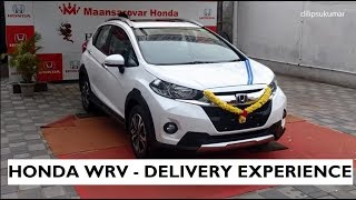 Honda WRV - New Car Delivery Experience on 28/08/17 - White Orchid Pearl