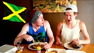 Eating Jamaican Food!