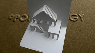 getlinkyoutube.com-Pop Up House Card #3 Tutorial - Origamic Architecture