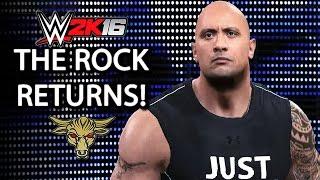 getlinkyoutube.com-WWE 2K16 - The Rock Returns To Save Roman Reigns!