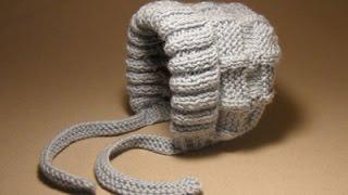 getlinkyoutube.com-Детские шапочки крючком и спицами.№3 Шапочка для новорожденного