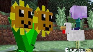 getlinkyoutube.com-Plants vs. Zombies 2 Minecraft Mod Chicken Rider Zombie!