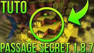 getlinkyoutube.com-PASSAGE SECRET FACILE 1.8.7 | Minecraft