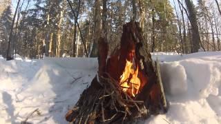 getlinkyoutube.com-Solo Winter Camping - Guskewau Lake - Feb 2015