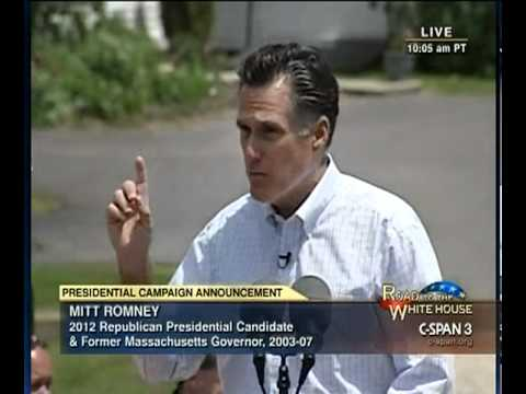 Mitt Romney Presidential Announcement