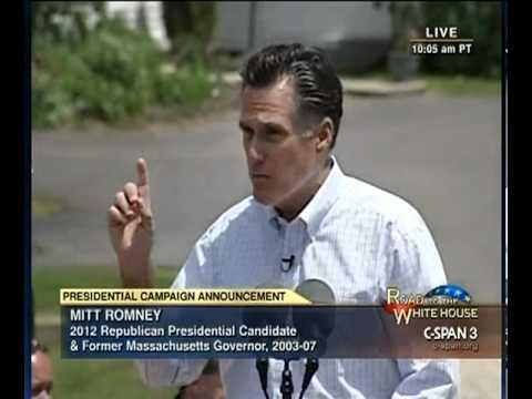 Mitt Romney Presidential Announcement
