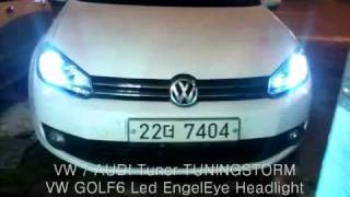 getlinkyoutube.com-vw golf 6 led engeleye headlight 폭스바겐 골프 엔젤아이.wmv