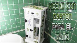 getlinkyoutube.com-Manualidades, Diy, Mueble hecho con Cartón para el cuarto de Baño