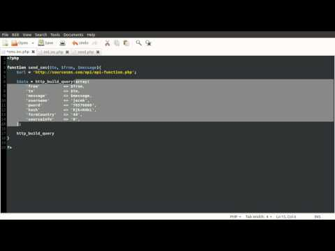 PHP Tutorial: Sending SMS (Text Message) [part 03]