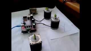getlinkyoutube.com-CNC Controller _ Driver for small CNC Machine نظام تحكم في ماكينة سي ان سي صغيرة الحجم