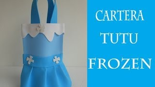 getlinkyoutube.com-Cartera Tutu de Foami Frozen
