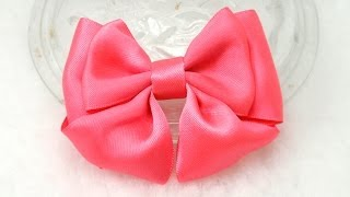 getlinkyoutube.com-DIY, How to Make Bow, DIY, Tutorial, Ribbon Bow #4