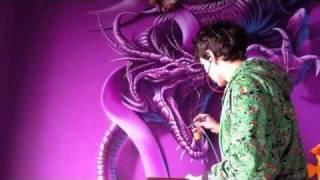getlinkyoutube.com-Аэрография, рисую дракона