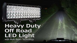 getlinkyoutube.com-Quad Row Heavy Duty Off Road LED Light with Multi Beam