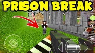 getlinkyoutube.com-BREAKING OUT of PRISON!! Cops Vs. Robbers: JAILBREAK Minecraft Pocket Edition Mini-Game App