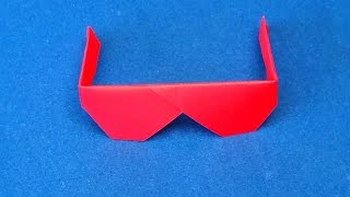 getlinkyoutube.com-Origami Sunglasses.  How to make Traditional Origami Sunglasses