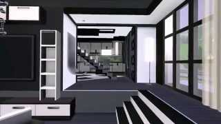 getlinkyoutube.com-The Sims 3 Modern House - Gray Scale for couples [HD] + Download