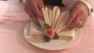 getlinkyoutube.com-How To Fold Fancy Looking Napkins
