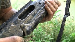getlinkyoutube.com-Shotgun Torture Test: Who Likes the Mud?