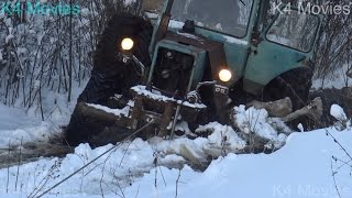 Road freezing in forest | MTZ 82